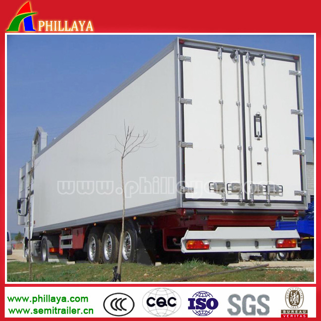 Low price 3 axles 30 - 50 ton semi-trailer Stainless steel or aluminum truck cargo box for transport