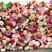 Silk Flower Wall Background Wedding Artificial Flower Wall Wedding Backdrop