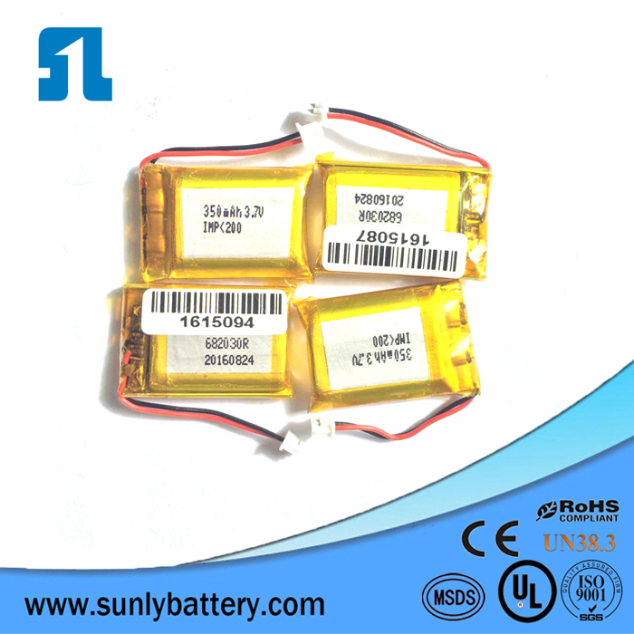 Smart Watch Li-ion Battery in Rechargeable Batteries, 3.7v lipo 350mah Battery