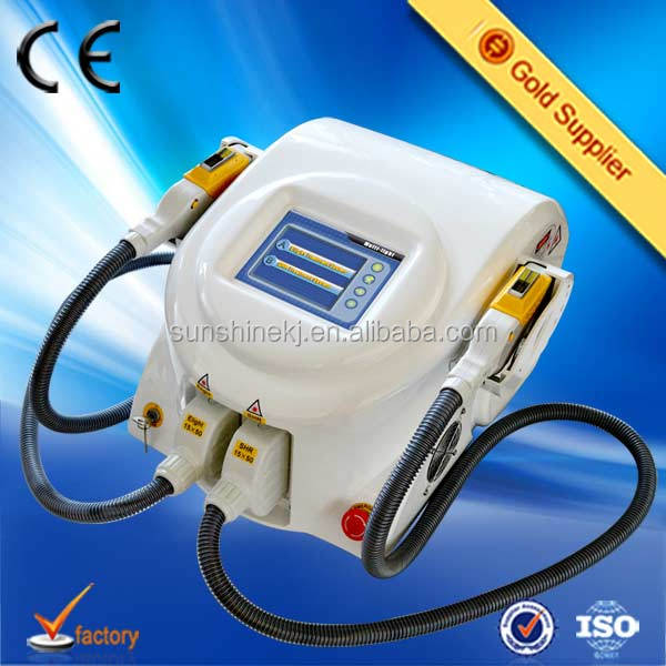 Hot selling CE TUV 3000w imported lamp 1-10hz portable elight shr free elite pain videos monica