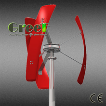 Small vertical axis wind turbine ! Roof-mounted vertical wind generator , domestic vertical axis wind generator