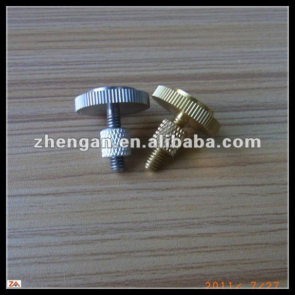 knurled thumb screw with thumb nut