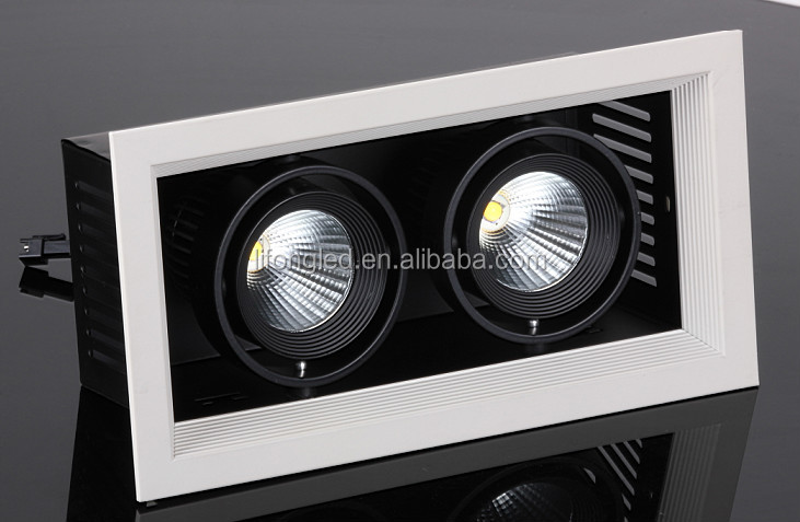 2*18w led grille light high power for shop ceiling cheapest price sale from china