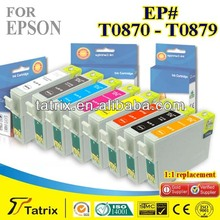 T0870--T0879 Ink Cartridge Compatible for Epson T0870--T0879 Ink Cartridge used in R1900