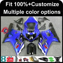 INJECTION MOLDING panels 2001 2002 2003 GSXR 600/750 GSXR600 blue Fairing For Suzuki K1 GSXR750 2001 2002 2003 Racing Fairing