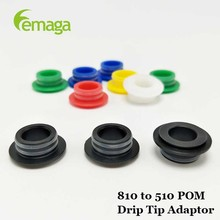 LEMAGA Colorful Drip Tip Adapter 510 drip atomizer double tip delrin friction fit tips