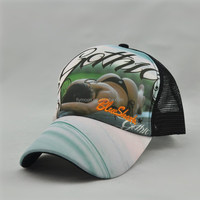 New Artwork Mesh Sports Cap Hat With Custom Sublimation Image