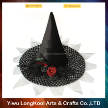 Made in China Deluxe party hat Luxury black halloween witch hat
