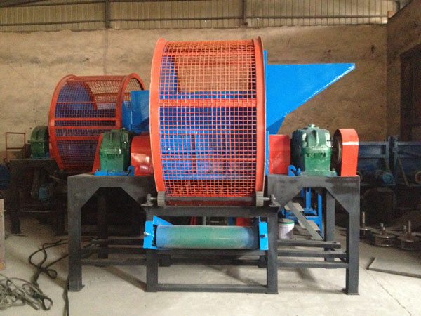 China professional tyre shredder machine/rubber tire recycling equipment/used tire shredder