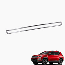wenzhou factory latest car accessories ABS Chrome For JEEP Compass 2017 Trunk Lid Tailgate Moulding Trim Exterior Accessories