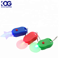 Mini heart shaped flash inglight led keychain light, colorful bag light ,pet safety light zipper light