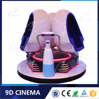 New Business Idea Electronic 3 Seats 9D Virtual Reality Egg Machine Type 9D Motion Ride Simulator Cinema