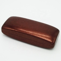 cheap hard real leather simple packaging foldable sun glasses case box / case for multiple sunglasses