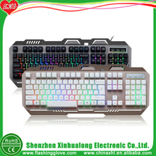 new products 2017 innovative product LED Metal backlight gaming keyboard computer keyboard