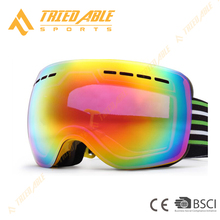 Wide angle REVO coating lens ski goggles UV protection custome snow goggles