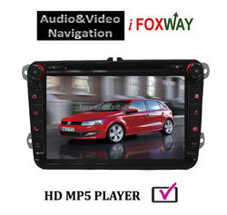 8 Inch Touch Screen In-dash Bluetooth/IPOD/USB Car Audio GPS