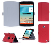 Design Your Fancy Rotation Cover Wholesale Leather Tablet Flip Case For LG G Pad V495