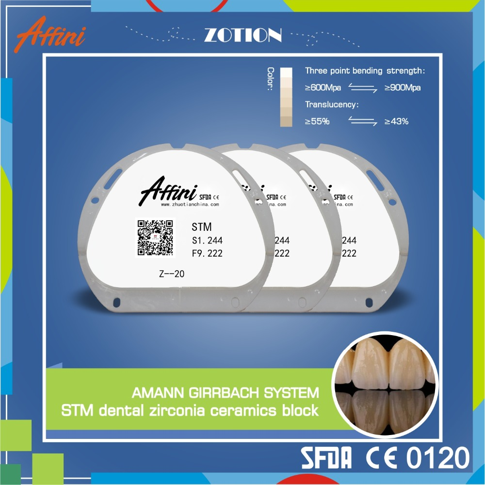 Affini Girrbach system STM artificial teeth dental composite material ceramic zirconia block