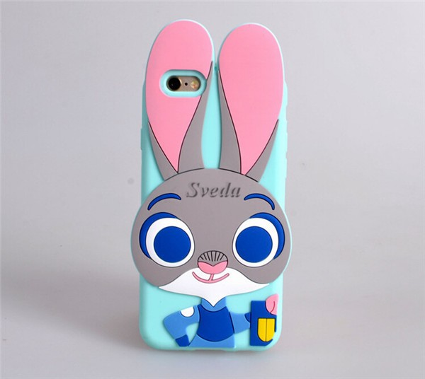 (2016 new) Zootopia smartphone case 3D Silicon soft cellphone case Wholesale mobile phone case for Iphone6/6plus/5s/5