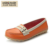 high quality genuine leather foldable soft sole shoes women flats