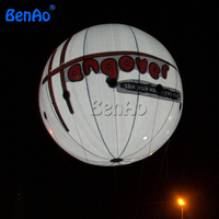 AO080 Giant inflatable helium balloon/LED balloon/0.18 mm pvc helium balloon with led light for advetising