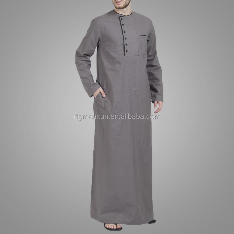Wholesale Designer islamic thobe dubai muslim men clothing