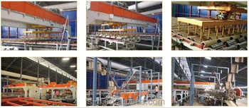 Automatic production process after dryied and before glazing system