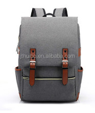 Hot sale korean style laptop backpack custom unisex high school bag