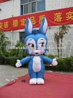 Blue Rabbit Inflatable Moving Cartoon