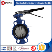High quality cast iron wafer butterfly valve