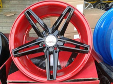 Red wheel body + black spokes wheel size 15X7. for sale