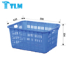 Custom Made Low Price Food Grade Recycle Gray Plastic Crate for Warehouse
