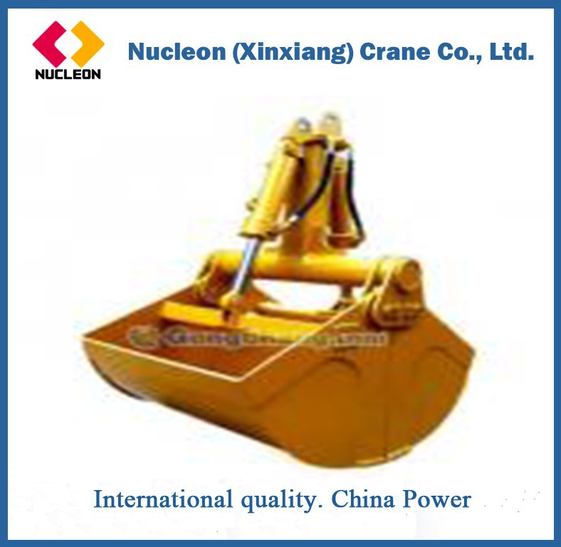 Metal Industry Clam Shell Grab Overhead Crane With Handling Grab
