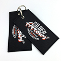 custom high quality design embroidered key chain/keychain/keyring key ring/key holder long chain
