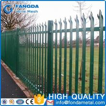 wholesale cheap pvc coated second hand palisade fencing for sale