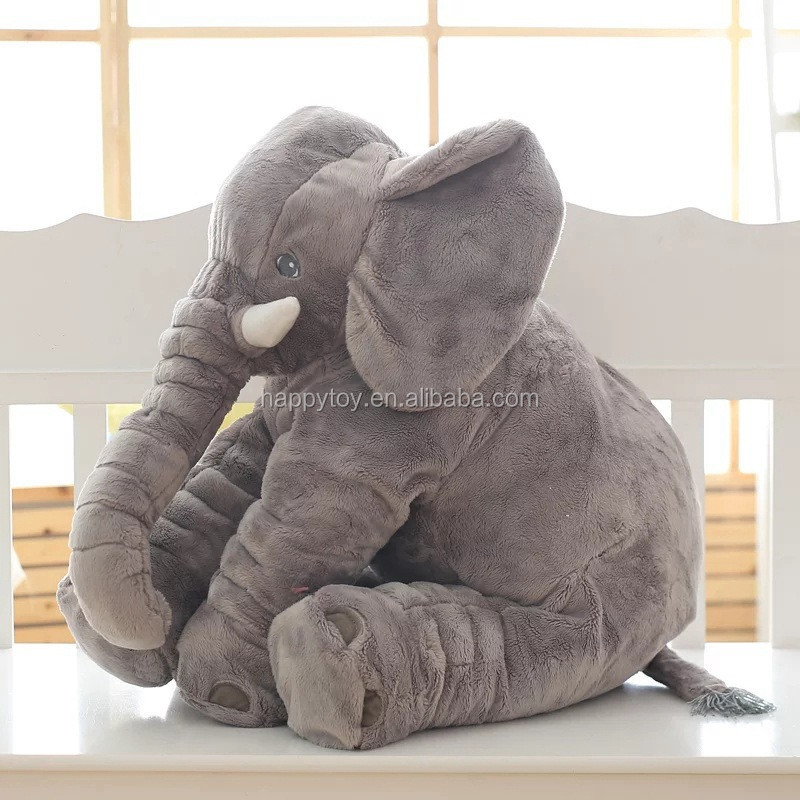 HI 60cm High Quality Lovely Plush Elephant Toy, Soft Toys Stuffed Animal Elephant Doll For Baby & Kids