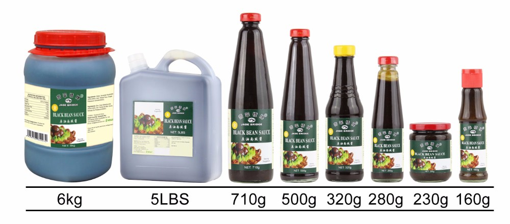 Best quality and selling Black bean sauce 500g galss bottle