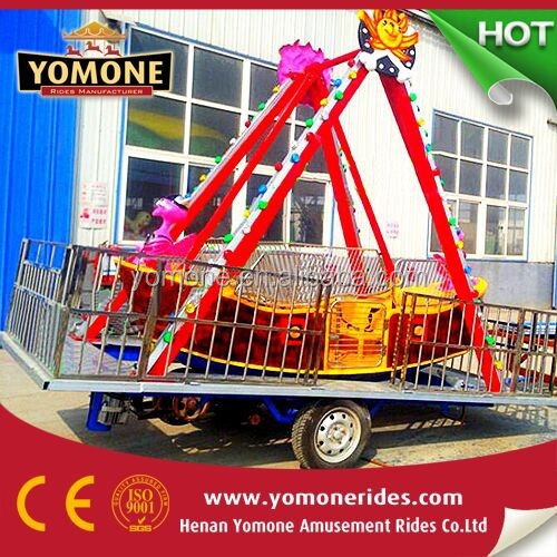 China factory manufacturer Yomone amusement park rides mini pirate ship with trailer for sale