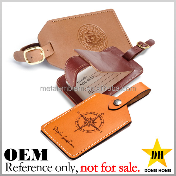 cheap travel airplan gift custom debossed logo PU leather luggage tag
