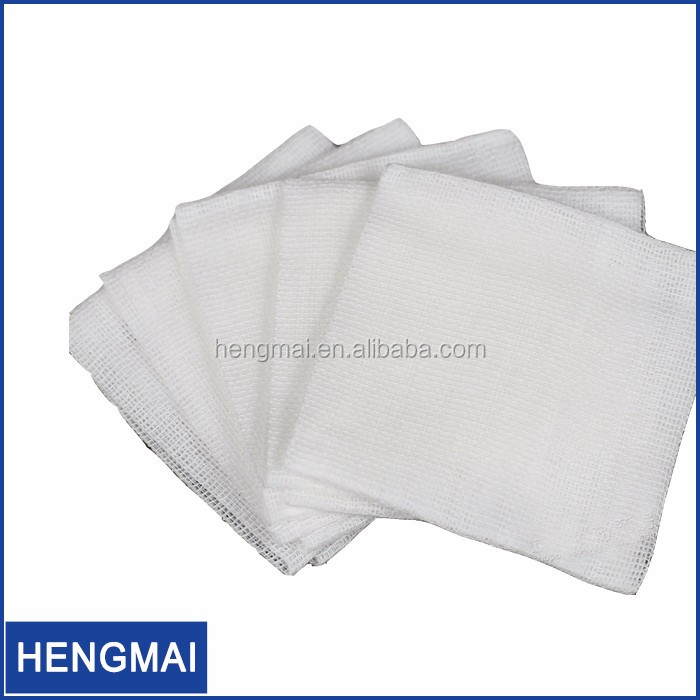 100% Raw Cotton Sterile Gauze Pads 4x4 Wound Care Products