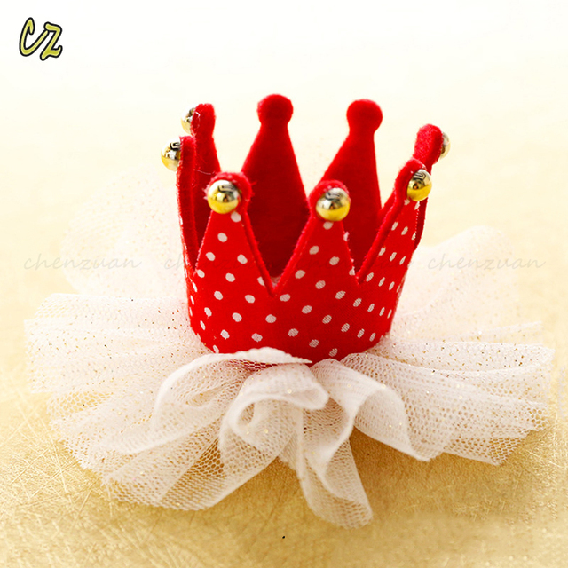 Alibaba different types baby child crown hair clip for birthday party gifts
