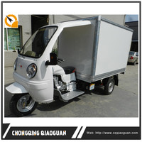 China 200cc Three Wheel Refrigerator Truck/Refrigerator Cooling Box Cargo Motor Tricycle Food Tricycle