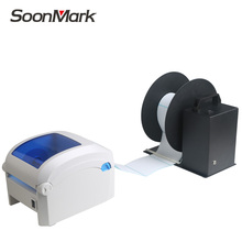 Quality automatic label rewinder roll barcode sticker label rewinding machine