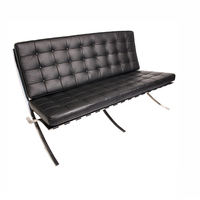Hot sale Barcelona Chair sofa new design /black and white leather Sofa modern / genuine leather sofa set