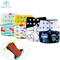 New patterns Pocket Washable Happy flute Cloth Reusable Diapers For Baby