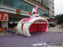 customized advertising inflatable tents, frozen yogurt inflatable booth