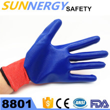 Popular Nitrile safety working gloves with wholesale price