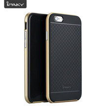 iPaky Wholesale PC and Silicone Hybrid Back Cover Cellphone Dotted Armor Case for iPhone 6/6S Plus