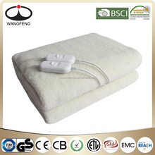 Synthetic Wool Fitted Electric Heating Blanket