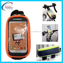 "Cycling Bike Bicycle Waterproof Mobile Phone Bag Pouch Bike Frame Bag Case for 5"" Phone Universal Bike Mount Holder"
